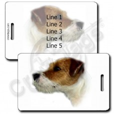 PARSON JACK RUSSELL TERRIER LUGGAGE TAGS
