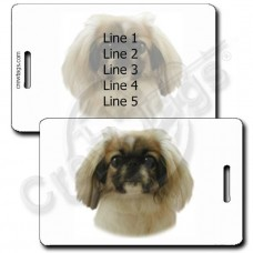 PEKINGESE LUGGAGE TAGS