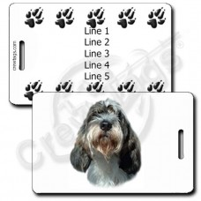 PERSONALIZED PETIT BASSET GRIFFON VENDEEN LUGGAGE TAGS WITH PAW PRINT BACK