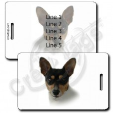 RAT TERRIER LUGGAGE TAGS