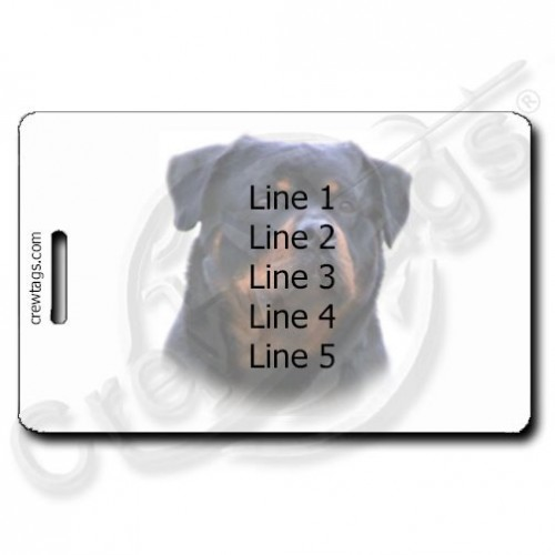 ROTTWEILER PERSONALIZED LUGGAGE TAGS