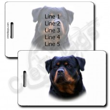 PERSONALIZED ROTTWEILER LUGGAGE TAGS
