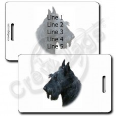 SCOTTISH TERRIER LUGGAGE TAGS