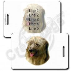 TIBETAN TERRIER LUGGAGE TAGS