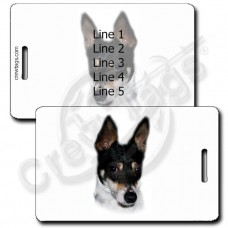 TOY FOX TERRIER LUGGAGE TAGS