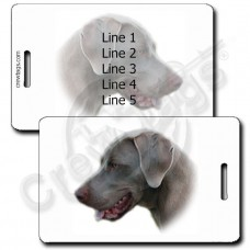WEIMARANER LUGGAGE TAGS