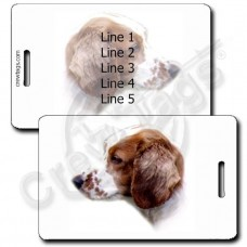 WELSH SPRINGER SPANIEL LUGGAGE TAGS