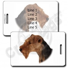 WELSH TERRIER LUGGAGE TAGS
