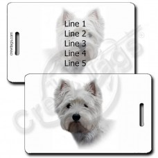 WEST HIGHLAND WHITE TERRIER LUGGAGE TAGS