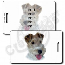 WIRE HAIR FOX TERRIER LUGGAGE TAGS