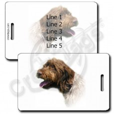 WIREHAIRED POINTING GRIFFON LUGGAGE TAGS