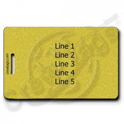 GOLD PERSONALIZED PERSONALIZED LUGGAGE TAG