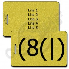 HOMER EMOTICON PERSONALIZED LUGGAGE TAG (8(|) GOLD