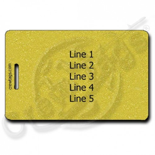GOLD PERSONALIZED LUGGAGE TAG