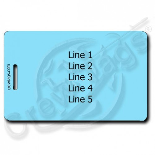 Light Blue Personalized Luggage Tags