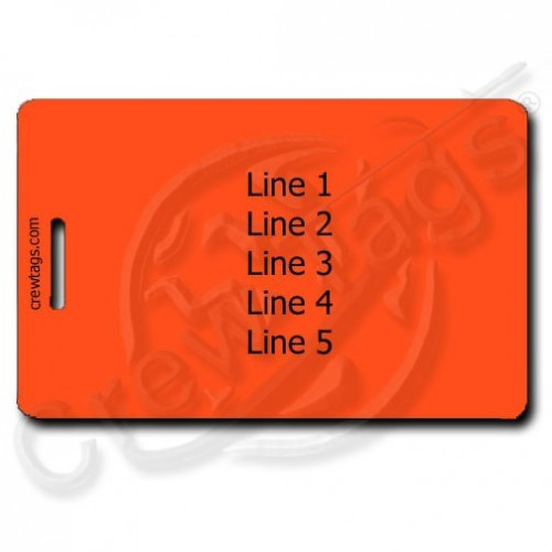 FLUORESCENT ORANGE PERSONALIZED LUGGAGE TAG