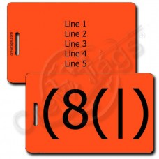 HOMER EMOTICON LUGGAGE TAG (8(|) NEON ORANGE