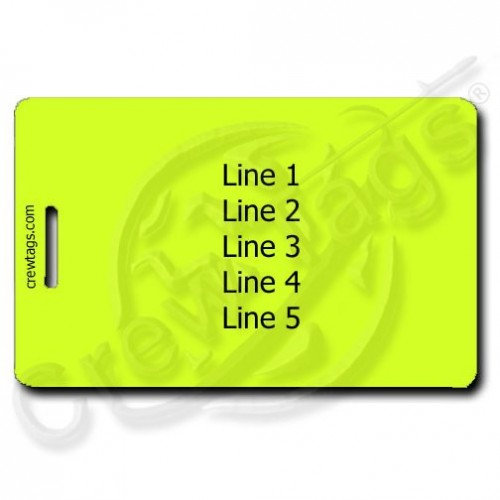 NEON YELLOW PERSONALIZED LUGGAGE TAGSGS