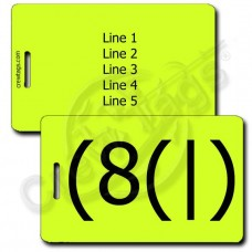HOMER EMOTICON LUGGAGE TAG (8(|) NEON YELLOW