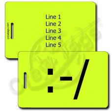 EMOTICON LUGGAGE TAGS PERSONALIZED