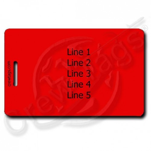 RED PERSONALIZED LUGGAGE TAGS