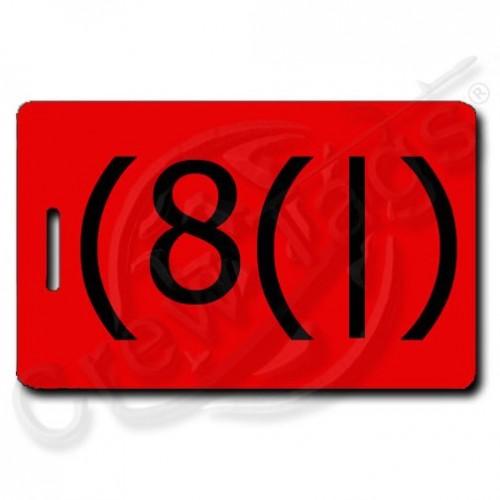 RED EMOTICON HOMER LUGGAGE TAG