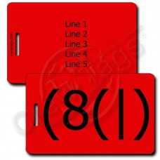 HOMER EMOTICON LUGGAGE TAG (8(|) RED
