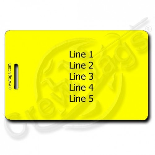 YELLOW PERSONALIZED LUGGAGE TAGS