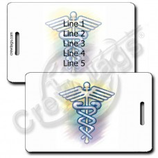 CADUCEUS LUGGAGE TAGS