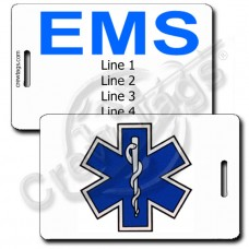 Star of Life with EMS Back Luggage Tags