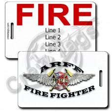 AIRCRAFT RESCUE & FIREFIGHTING LUGGAGE TAGS (ADFF) - FIRE BACK