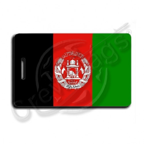 AFGHANISTAN FLAG LUGGAGE TAGS with Personalized Text