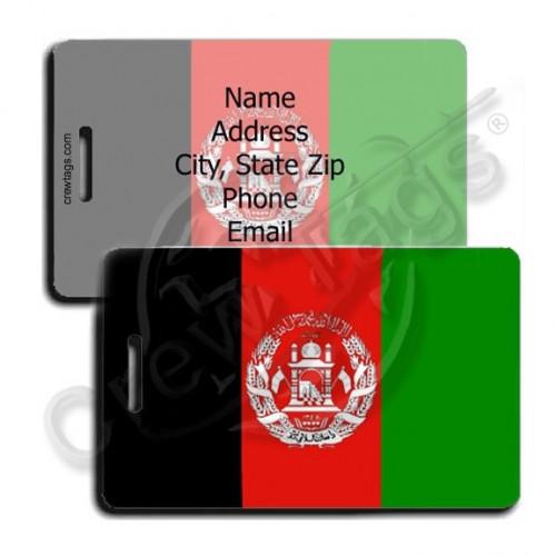 AFGHANISTAN FLAG LUGGAGE TAGS