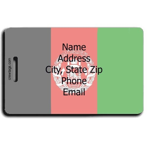 AFGHANISTAN FLAG PERSONALIZED LUGGAGE TAGS