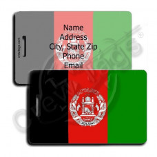 AFGHANISTAN FLAG LUGGAGE TAGS