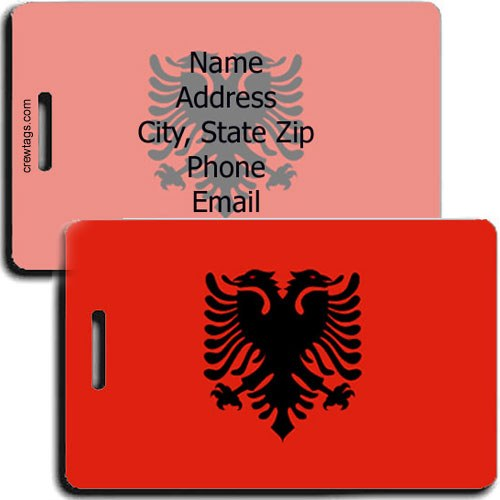 ALBANIAN FLAG PERSONALIZED LUGGAGE TAG