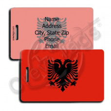 ALBANIA FLAG LUGGAGE TAGS