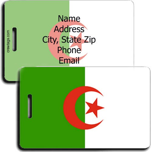 ALGERIAN FLAG PERSONALIZED LUGGAGE TAGS