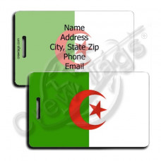 ALGERIA FLAG LUGGAGE TAGS