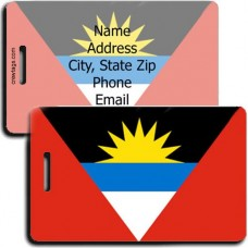 ANTIGUA AND BARBUDA PERSONALIZED FLAG LUGGAGE TAG