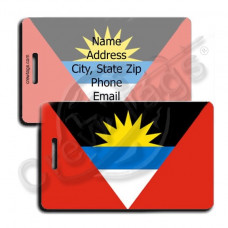 ANTIGUA AND BARBUDA FLAG LUGGAGE TAGS