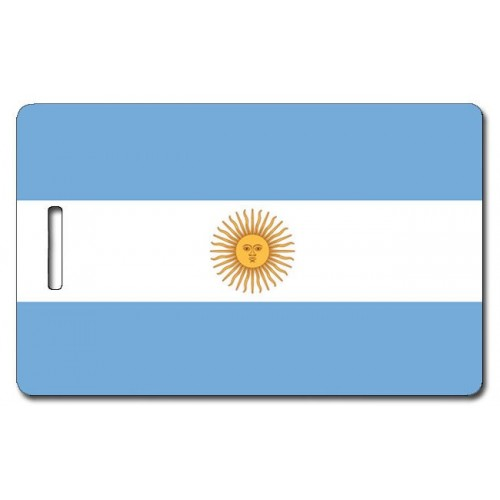 ARGENTINA FLAG LUGGAGE TAG