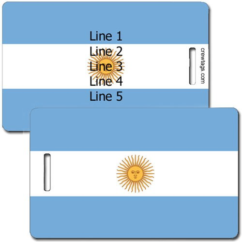 ARGENTINA FLAG PERSONALIZED LUGGAGE TAG