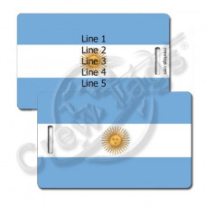 ARGENTINA FLAG LUGGAGE TAGS