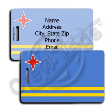 ARUBA FLAG LUGGAGE TAGS
