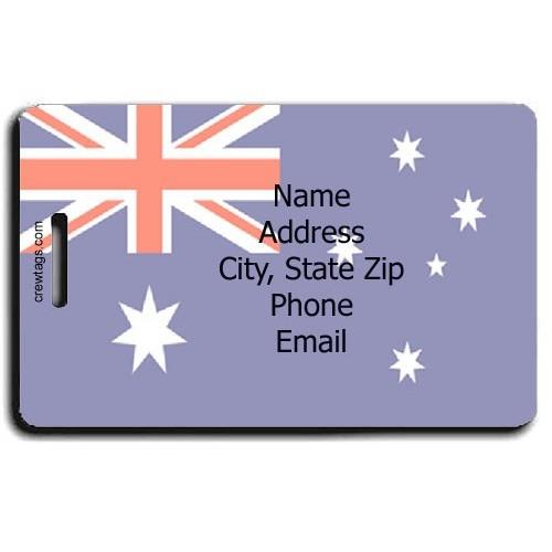 AUSTRALIA FLAG PERSONALIZED LUGGAGE TAG