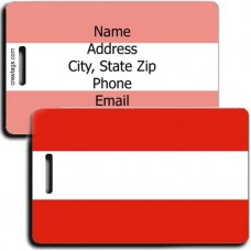 AUSTRIA FLAG LUGGAGE TAGS