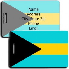 BAHAMAS FLAG LUGGAGE TAGS
