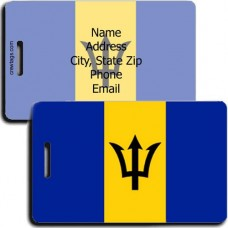 BARBADOS PERSONALIZED FLAG LUGGAGE TAG