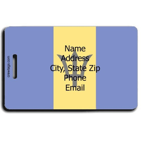 BARBADOS FLAG PERSONALIZED LUGGAGE TAG